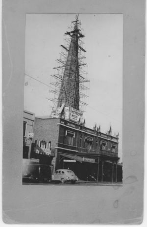 MaughanChurchRepairsafterEarthquakeMarch1954